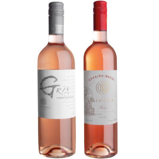Botellas de vino rosado Cousino Macul