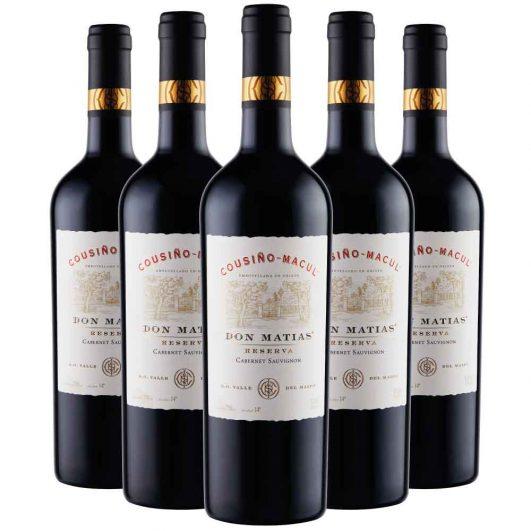 caja 6 botellas don matías cabernet sauvignon - cousino macul